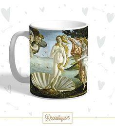 """TAZZA  Sandro Botticelli - """"Nascita di Venere"""" Codice: TZZ022  Per prenotare la tua Tazza contattaci in privato o all'indirizzo email info@decoutique.it Personalizza la tua Tazza con lo stile più adatto a te. Affidati a noi per la tua proposta grafica!"""