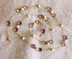 925 Silver, Pearl Necklace, Amethyst, Jewellery, Pearls, String Of Pearls, Jewels, Schmuck, Beads