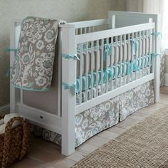 Taupe Suzani Four-piece Crib Bedding Set | Carousel Designs...I LOVE THIS!