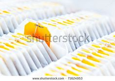Teabag Close-Up In Tea Packaging Stock Photo 71624953 : Shutterstock