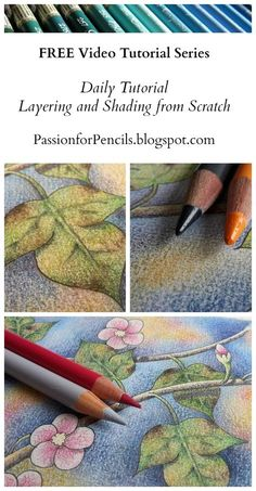 Watch the FREE Daily Tutorial Videos to learn more. Watch the FREE Daily Tutorial Videos to learn more about layering, blending, shading, and adding detail to your drawings and colouring pages! Pencil Drawing Tutorials, Art Tutorials, Pencil Drawings, Pencil Sketching, Rose Drawings, Art Drawings, Colored Pencil Tutorial, Colored Pencil Techniques, Colouring Techniques
