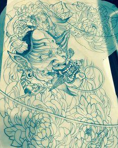 Le tigra done on in copics. Hannya Mask Tattoo, Hanya Tattoo, Birthdate Tattoo, Biblical Tattoos, Glyph Tattoo, Asian Tattoos, Copics, Asian Style, Art Sketchbook