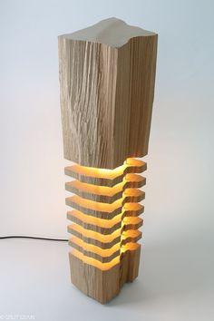 Modern Lighting Wood Light Sculpture von SplitGrain auf Etsy