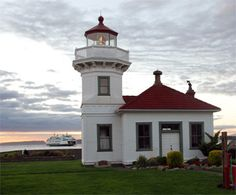 Mukilteo Lighthouse (Mukilteo, Washington).  Construction began in 1905 and the light was lit for the first time on March 1, 1906.