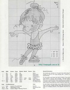 Схемы вышивки на тему «балет, танец» №33129