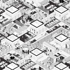 Montpellier – Studio Muoto Collage Architecture, Architecture Graphics, Architecture Visualization, Architecture Drawings, Gothic Architecture, Landscape Architecture, Montpellier, Axonometric Drawing, Isometric Drawing