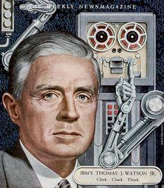 IBM's Thomas J. Watson Jr. 1955 Time cover art by Artzybasheff