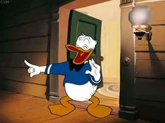 Mickey might have started The House of Mouse but to us, Donald Duck is perhaps the most iconic Disney character of them all. (That voice!) DESCRIPTION Mickey might have started Walt Disney, Disney Duck, Disney Love, Donald Duck Comic, Donald And Daisy Duck, Classic Cartoon Characters, Classic Cartoons, Disney Characters, Vintage Cartoons