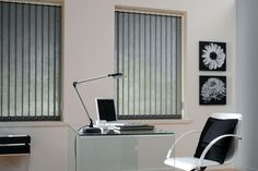 Vertical blinds give you complete control over the amount of light or shade that is filtered into the room. Vertical Blinds come in many different colours. Vertical Window Blinds, Blinds For Windows, Office Blinds, Zebra Shades, Sun Blinds, Outdoor Blinds, Cool Curtains, Bedroom Windows, Living Room Bedroom