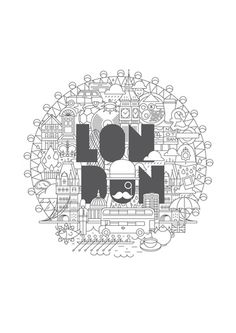 forma ilovecities london poster by forma & co