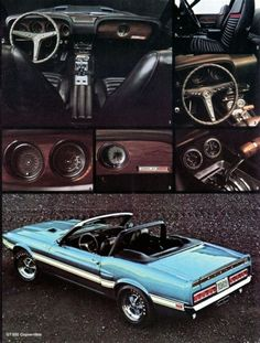 1969 Shelby and original Ford sales brochure Ford Mustang Shelby Gt500, Mustang Cobra, Mercury Cars, Mustang Convertible, Gt Cars, Car Ford, Classic Cars, Mustangs, Ford Sales