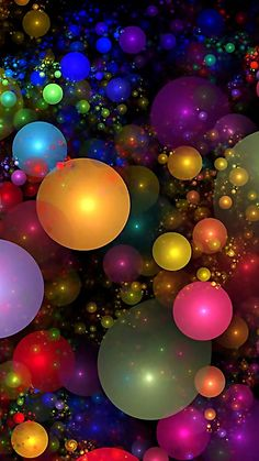 Billions of Bubbles.By Artist Wolfepaw. Beautiful Nature Wallpaper, Colorful Wallpaper, Flower Wallpaper, Beautiful Flowers, Amazing Wallpaper, Colorful Artwork, Cellphone Wallpaper, Galaxy Wallpaper, Wallpaper Backgrounds
