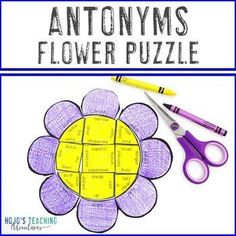 ANTONYMS Flower Puzzle | Spring Literacy Centers, Stations, Games, & Activities | 2nd, 3rd, 4th, 5th grade, Activities, English Language Arts, Games, Homeschool, Literacy Center Ideas, Spring, Vocabulary 5th Grade Classroom, Special Education Classroom, English Language, Language Arts, Reading Recovery, Ell Students, Center Ideas, Summer School, 5th Grades