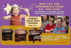 Learning to make music is fun and easy with Lowrey Magic and Schmitt Music.