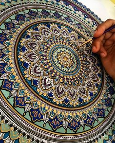 Please excuse my very unattractive hand. lol I actually love creating them. TAG 3 people who love My black and white mandala giveaway will be announced this Sunday Moon Mandala, Mandala Doodle, Mandala Canvas, Mandala Painting, Dot Painting, Fabric Painting, Mandala Dots, Mandala Art Lesson, Mandalas Drawing
