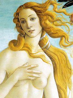 Sandro Botticelli - Nascita di Venere (frammento) - Firenze - Galleria degli Uffizi https://artesehumordemulher.wordpress.com/pinturas-de-sandro-botticelli/