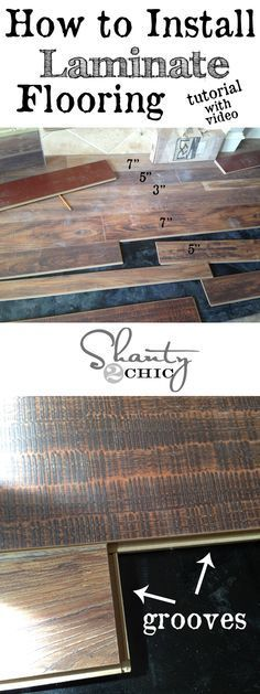 Step-by-step instruction to installing laminate flooring with a video! Looks easy :)