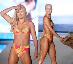 #hairdare #bald #smooth #headshave #closeshave #baldwoman #shavedhead #swimsuit #sexy #beautiful #womenshair Bald Head Women, Shaved Head Women, Sexy Bikini, Bikini Girls, Short Hair Cuts, Short Hair Styles, Bald Look, Bald Girl, Shaved Hair