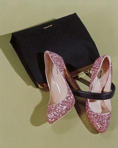miu miu pink glitter heels!!!!