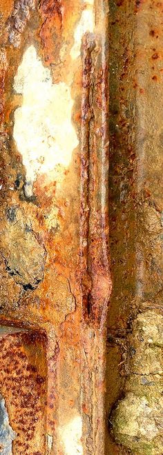 Rust Divide by Ann Kate Davidson Texture Photography, Abstract Photography, Rust Never Sleeps, Rusted Metal, Peeling Paint, Nature Artwork, Texture Art, Metal Texture, World Of Color