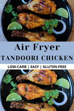 Air Fryer Recipes Indian, Indian Chicken Recipes, North Indian Recipes, Easy Indian Recipes, Fried Chicken Recipes, Chicken Thighs Indian Recipe, Tandoori Recipes, Curry Recipes, Vegetarian Recipes