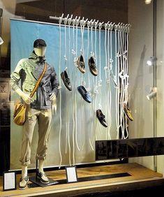 Visual Merchandiser, styling and still life designs Shoe Display, Display Design, Shop Interior Design, Retail Design, Store Window Displays, Denim Window Display, Fashion Window Display, Clothing Store Design, Store Windows