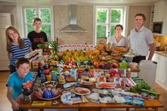 Norway: The Glad Ostensen family in Gjerdrum. Food expenditure for one week: 4265.89 Norwegian Kroner or $731.71. Favorite foods: mutton in cabbage, lasagne, and chocolate.