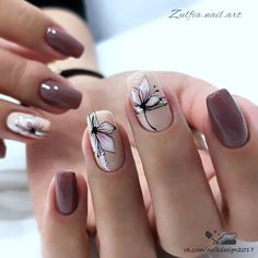 Manicure Nail Designs, Cute Acrylic Nail Designs, Colorful Nail Designs, Beautiful Nail Designs, Cute Acrylic Nails, Manicure And Pedicure, Gel Nails, Nail Art Designs Videos, Best Nail Art Designs