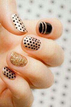 Polka dots and glitter