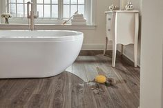 AquaGuard Smoky Dusk Water-Resistant Laminate - 12mm - 100085539 | Floor and Decor