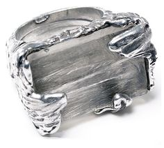 #Pewter #ring. The ring size is adjustable. One fits all.  #Handmade #jewellery by #NES, Montreal. - $55.00 #Onesize