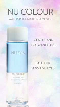Best Waterproof Makeup, Waterproof Makeup Remover, Nu Skin, How To Remove, How To Apply, Sensitive Eyes, Facial Massage, Make Up Remover, Cotton Pads