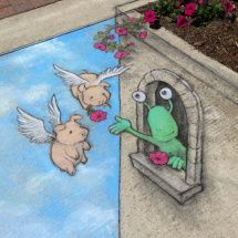 flower tower -David Zinn