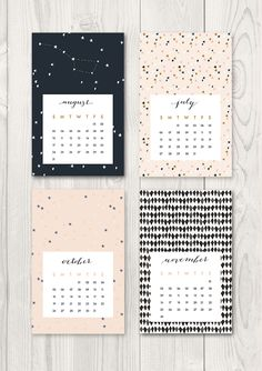 Pretty calendar to print  from Oh the lovely things