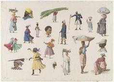 Diverse Surinaamse typen / Diverse types of people of Suriname / Berbagai anggota masyarakat Suriname, 1881 by KITLV Collections, via Flickr Foto klikken en dan rechts of links verder klikken om meer te zien.