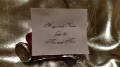 Hershey kiss wedding favors they say Hugs and kisses from the Mr. And Mrs.
