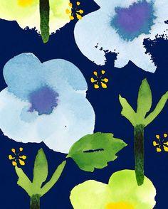 No.180712-01 #hydrangea #illustration #flower #pattern #colorink #Textile #イラストレーション #イラスト #パターン #紫陽花 #カラーインク #テキスタイル