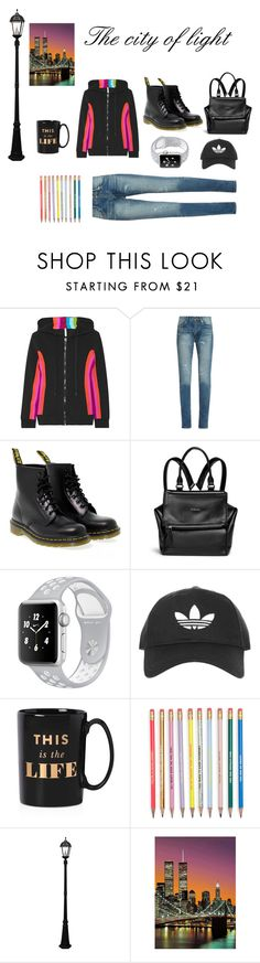 """Untitled #213"" by polaroidandfashion ❤ liked on Polyvore featuring No Ka'Oi, Yves Saint Laurent, Dr. Martens, Givenchy, Topshop, Kate Spade, Gama Sonic and Brewster Home Fashions"