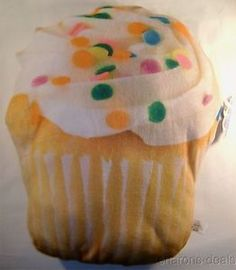 Cupcake Vanilla Icing Sprinkles Realistic Looking Sweet Dreams Food Pillow Plush for sale online
