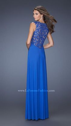 Royal Lace La Femme Prom Dress 19993 Long