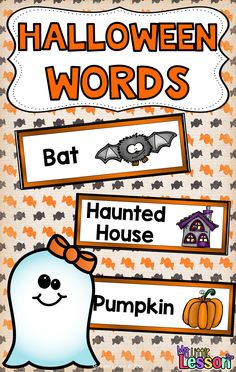 These Halloween Words include 15 word cards with matching Halloween pictures. They can be used to create a Halloween Word Wall in your classroom! A word wall can be a great resource while your students do some Halloween writing! This Product Contains: •15 Halloween word cards with matching Halloween pictures.