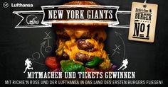 Richie'n Rose und Lufthansa verlosen Tickets von Düsseldorf nonstop nach New York. Zum Mitmachen hier klicken. #richienrose #bestburgers #lufthansa