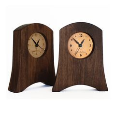 Liberty Mantel Clock in Walnut, with either Maple or Copper Face. by Sabbath-Day Woods www.sabbathdaywoods.com Sabbath Day, Clock Ideas, Dark Wood, Wood Art, Clocks, Liberty, Woods, Copper, Face