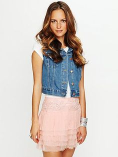 049f59148124 Free People Embroidered Raw Chiffon Skirt ~ USD ~ the mix