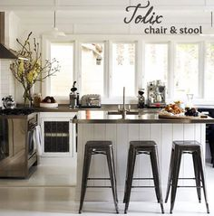 tolix stools.. yes please :-) just got some repo at an AMAZING price !!!