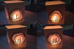 Windlichtkarte, Lichterkette, Teelichtkarte, Tim Holtz, Alexandra Renke, Memory Box, Adventskranz, Adventslicht,