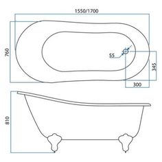 Forme Slipper free standing bath | Bathroomware House