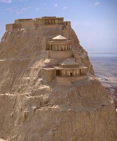 A model of Masada - Israel 31 BC - 70 AD