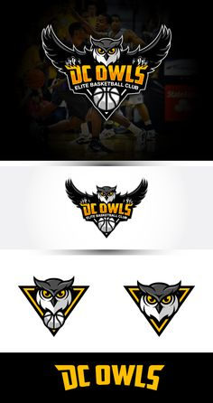 DC Owls Elite Basketball Club needs a new logo Logo design by - American Logo Sport Theme Buho Logo, Gfx Design, Icon Design, Graphic Design, Owl Logo, Esports Logo, Mascot Design, Great Logos, Game Logo