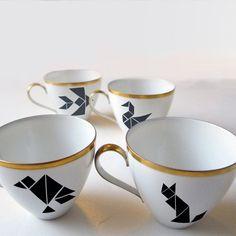 Stickers pour support en porcelaine pour customiser sa vaiselle - Nuuk sur Etsy - La Fiancée du Panda blog Mariage et Lifestyle